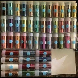 48 tubes of fine glitter from Martha Stewart